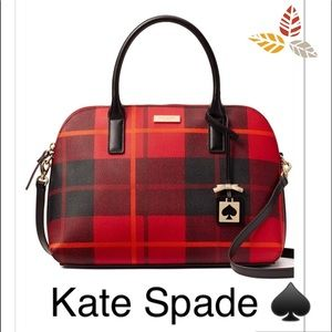 🚗 Kate Spade Rachelle Woodland Plaid Satchel NWT